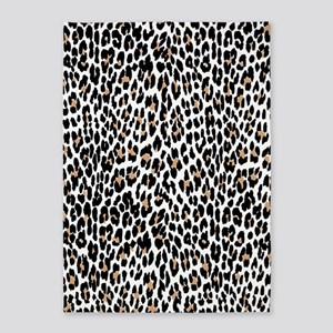 Leopard Print Vector [Converted] 5'x7'Area Rug
